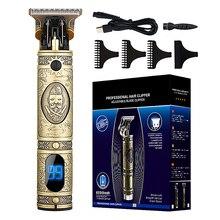 Maquinilla de afeitar eléctrica recargable para hombres, afeitadora de barba, profesional, inalámbrica, Máquina para cortar cabello