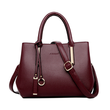 100% Genuine Leather Fashion Women Shoulder Bag Black Handbag Elegant Lady Messenger Crossbody Purse Casual Tote Bags Hand bags