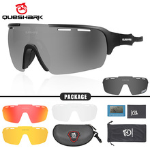 Polarized Cycling Sunglasses Eyewear Mtb-Goggles Bike QUESHARK HD 5-Lens/Set Professional