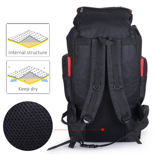 Image 3 - Mens 80L Big Hiking Mountaineering Backpack Climbing Hiking Backpack Camping Equipment Outdoor Fishing Bags Travel Accessories