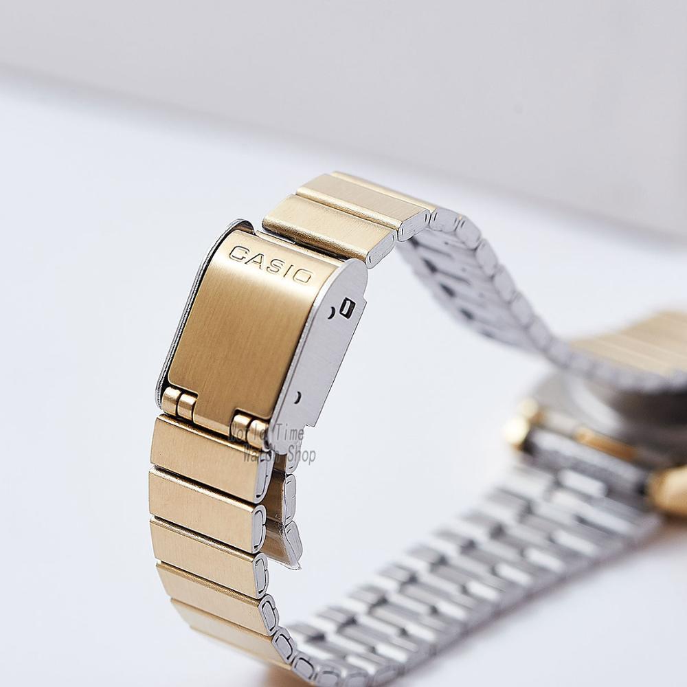 Casio часы золотые женские часы лучший бренд класса люкс водонепроницаемые кварцевые часы женские светодиодные цифровые спортивные женские ... - 3