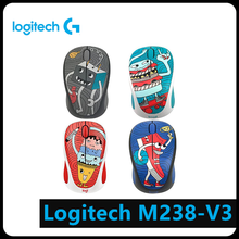 Logitech M238-V3 3 Keys Cartoon USB Wireless 1000DPI Optical Computer Mouse Computer Peripheral logitech m238 fan collection argentina