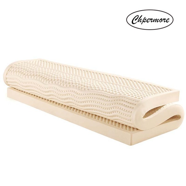 Chpermore Colchones 100% de látex natural, tatami de rebote lento, tamaño familiar, para cama matrimonial, individual y doble