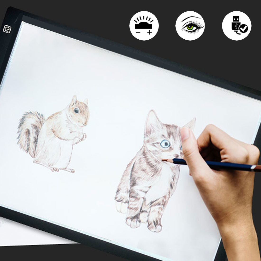 A3 A4 A5 Graphics Tablet LED Digital Pad USB Light Box Copy Digital Tablets Painting Writing Drawing Tablet Sketching Animation