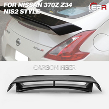 Carbon Wing Lip For Nissan 370Z Z34 2009-2018 NIS2 Style Carbon Fiber Rear Spoiler Body Kit Tuning Trim For 370Z Z34 Racing Part carbon fiber rear trunk wings m4 spoiler for bmw 4 series f36 420i 428i 435i gran coupe 4 door 2013 gloss black spoiler wing