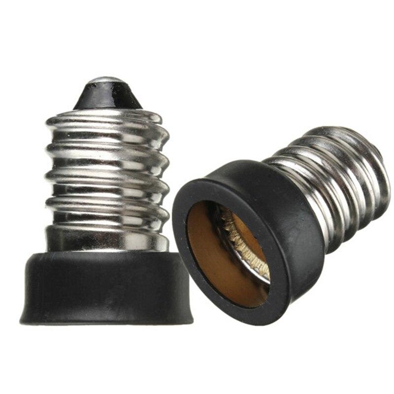 E12 To E14 Smaller Socket Base LED Bulb Lamp Light Adapter Converter Holder LED Lights E12-E14 Lamps Adapter