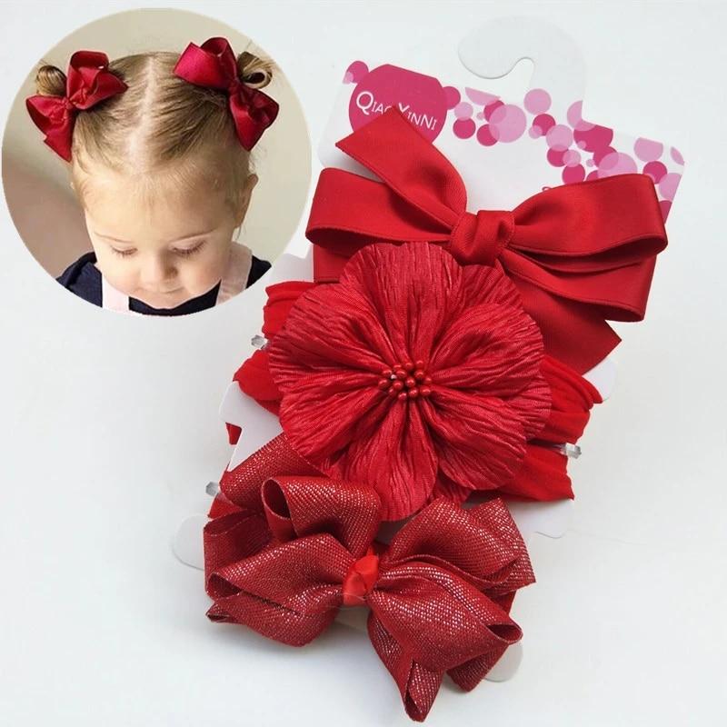 Soft Cute Baby Girl Headband Bows Sequins Kids Turban Hair Band Hairband Gift ~