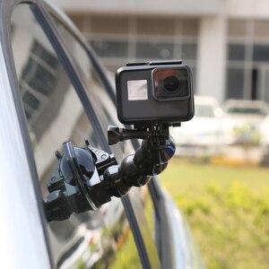 Image 5 - محول كوب شفط للسيارة ، حامل زجاج لنافذة Gopro Hero 5/6/7/8 ، Xiao mi Yi DJI OSMO Action ، للهواتف الذكية