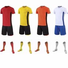 2021 New Adult Children Soccer Jerseys Short Sleeves Quick Dry Running Shirts Men Survetement Football Jersey Sets