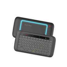H20 2.4GHz Mini Wireless Keyboard Backlight multi-touch Touchpad IR Leaning Remote Control Air Mouse for PC Smart TV Box Laptop 2017 new mc 35ag wireless touch digital keyboard touch mouse 2 4g wireless mini keyboard touch pads for pc
