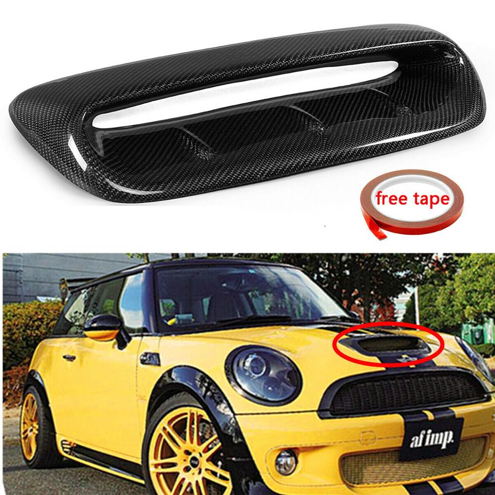 For Mini Cooper S R56 07-14 VTX Style FRP Front Hood Scoop Duct Intake Larger