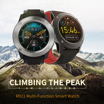 R911 Round Screen Full Touch Screen Smart Watches Heart Rate Barometric Pressure Altitude Information Sports Smart Watch