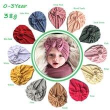 Lote de 20 Uds. De sombrero con lazo para bebé y niña, boina de algodón para bebé, sombrero con lazo grande liso para niña, sombreros de niño, tocados, novedad de 2020