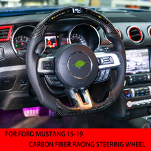 For Ford Mustang 2015, 2016, 2017, 2018, 2019 carbon fiber racing steering wheel