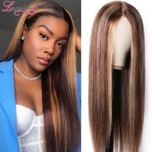Longqi Brown Wig 150% Density 13x4 Lace Front Wig Colored Glueless Lace Front Wig Human Hair Straight Wig Remy Brazilian Wig