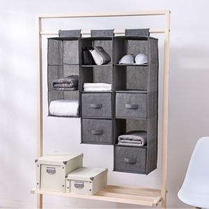 5/4/3 Sections Organizer Shelves Hanging Wardrobe Shoes Garment Organiser Storage Clothes Laundry Basket Cosmetics Storage Box
