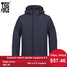 Men's Jacket Hooded-Coat Parka Men Clothing Tiger-Force Warm Outdoor New Business Casual