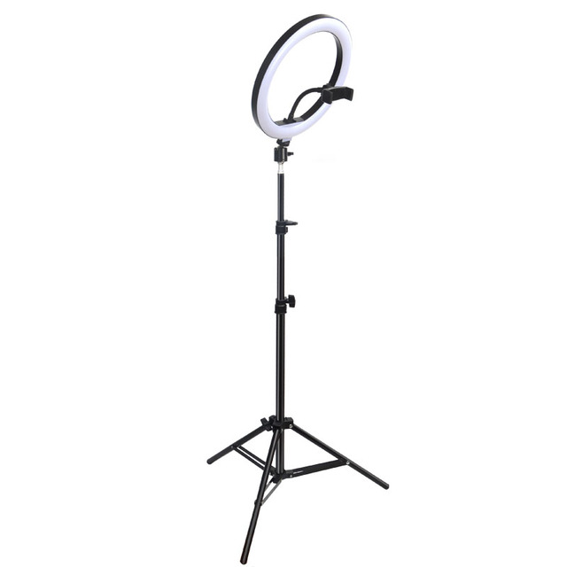 Gift 6 10 12 Inch Dimmable LED Selfie Ring Light with Stand without tripod 160cm Lamp Photography Ringlight Phone Studio Desktop 6