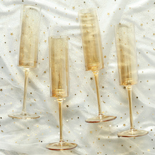 2Pcs Champagne flutes glass set crystal champagne glasses Cup Amber gray goblet wine glass creative home drinking wedding cups