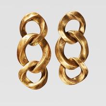 Dvacaman ZA, панк, золотой цвет, ограниченная серия, серьги для женщин,, вечерние, подарки, модное ювелирное изделие, металлическая подвеска, серьги