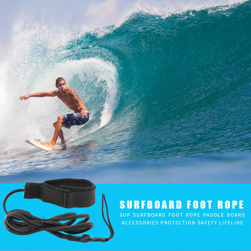 Surfboard Ankle Leash Rope Strap Coiled Stand Paddle Board Safety Surfing Belt