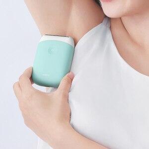 Image 3 - Smate Elektrische Epilierer Mini Tragbare Haar Entfernung Trimmer Frauen USB Aufladbare Glatte Rasierer Wasserdicht Epilierer