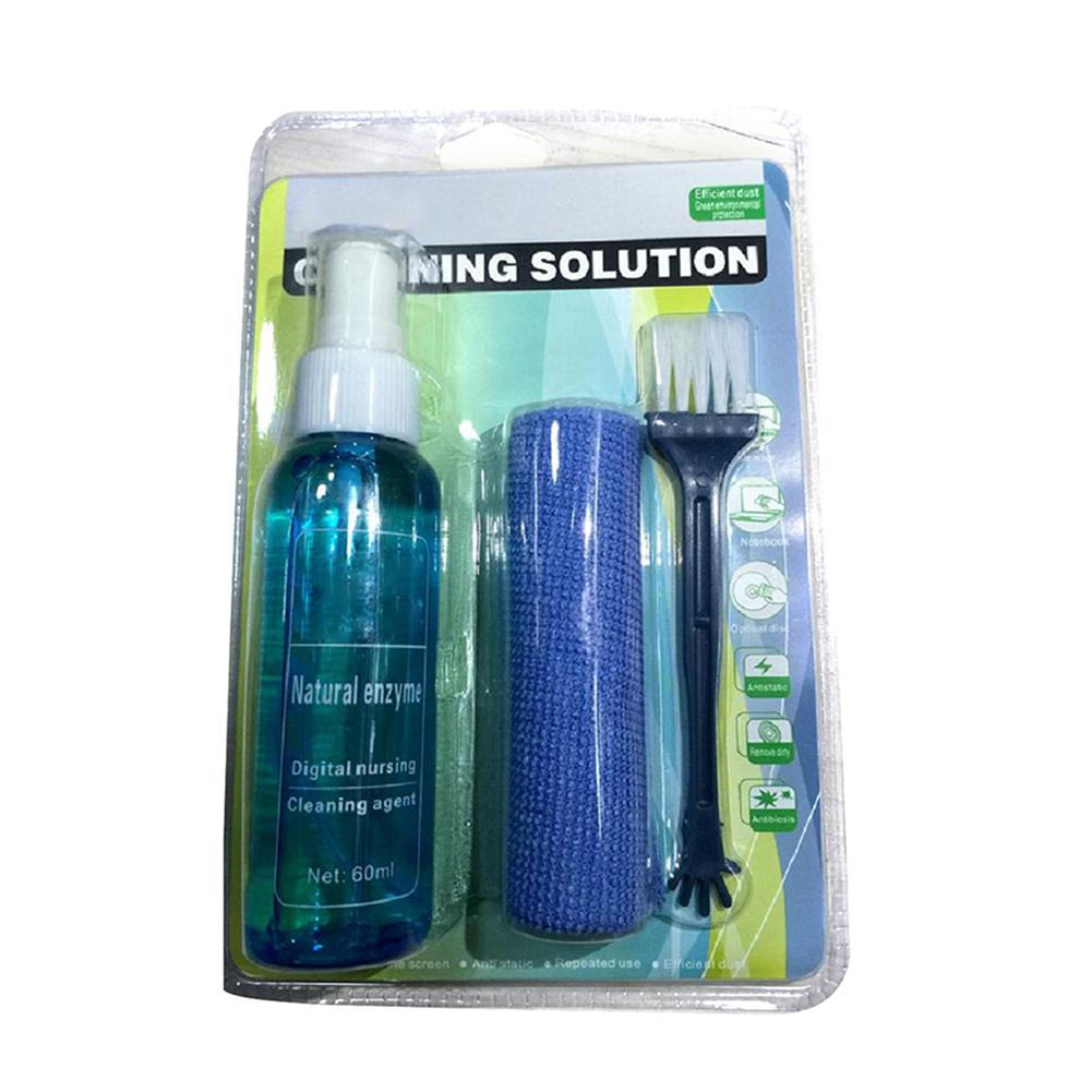 3 Piece Set Laptop Computer Cleaning Cleaning Solution Mobile Phone SLR Camera Household Appliances Cleaning Cloth #CD