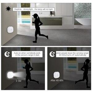 Image 5 - 10 led PIR 모션 센서 침실 부엌에 대 한 밤 빛 램프 자기 옷장 캐비닛 빛 무선 복도 계단 빛