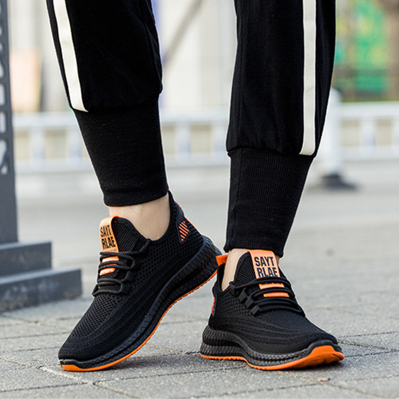 Men's Running Shoes Comfortable Sneakers Men Fitness Shock Absorption Trainers Beginners Outdoor Breathable Sports Shoes Sneaker