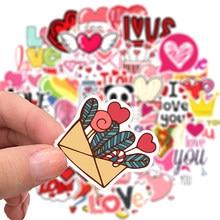 50 pçs amor adesivos para notebook computador portátil scrapbooking material adesitos rosa adesivos do vintage dia dos namorados artesanato suprimentos