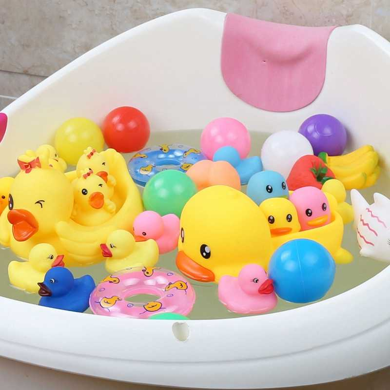 Animais kawaii brinquedos de água piscina brinquedos de água brinquedos de banho bonito brinquedos de praia vida marinha praia banheiro brinquedo do bebê desenhos animados engraçado pato de borracha