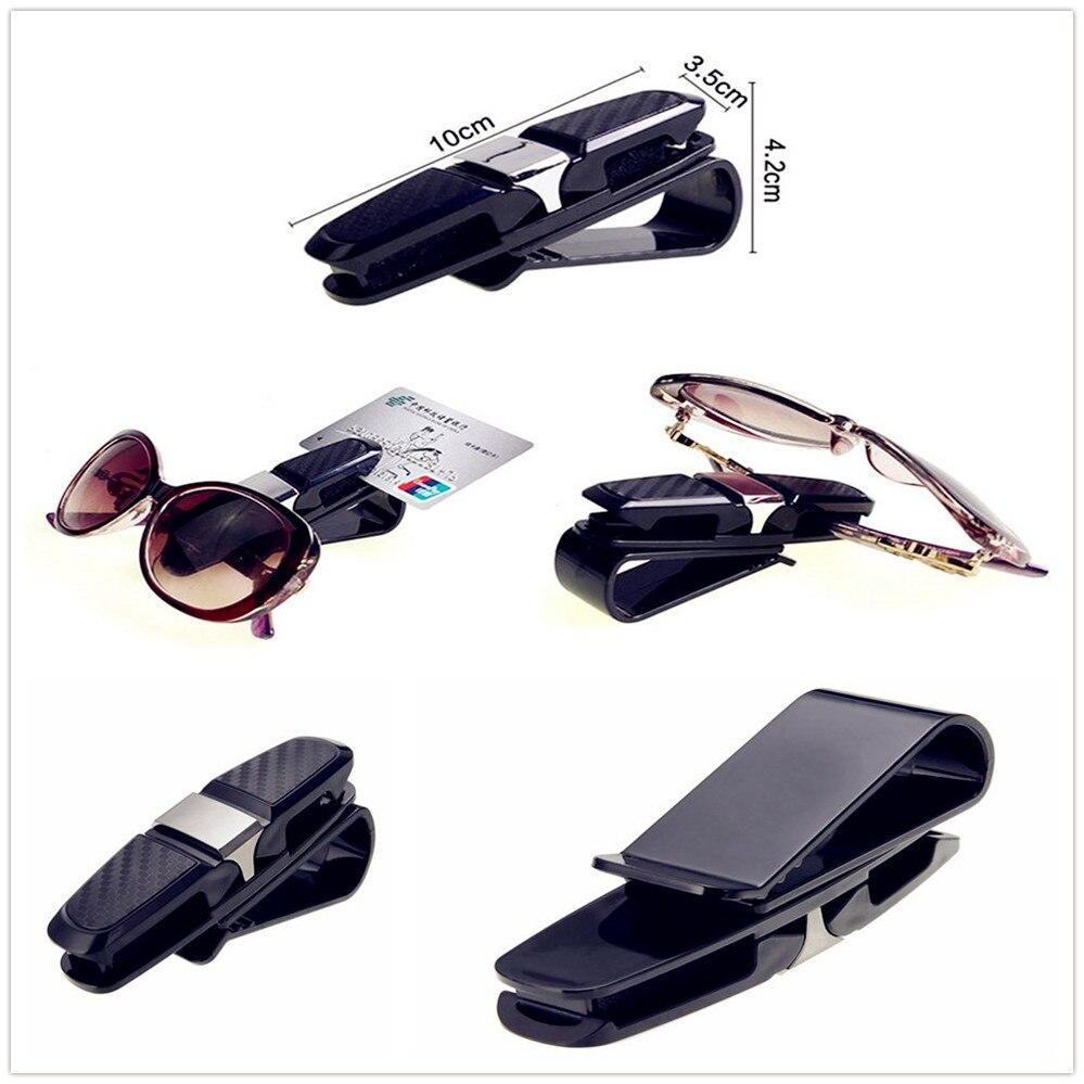 con clip para tarjeta de billete 2 unidades Pack de 2 soportes para gafas de sol para coche