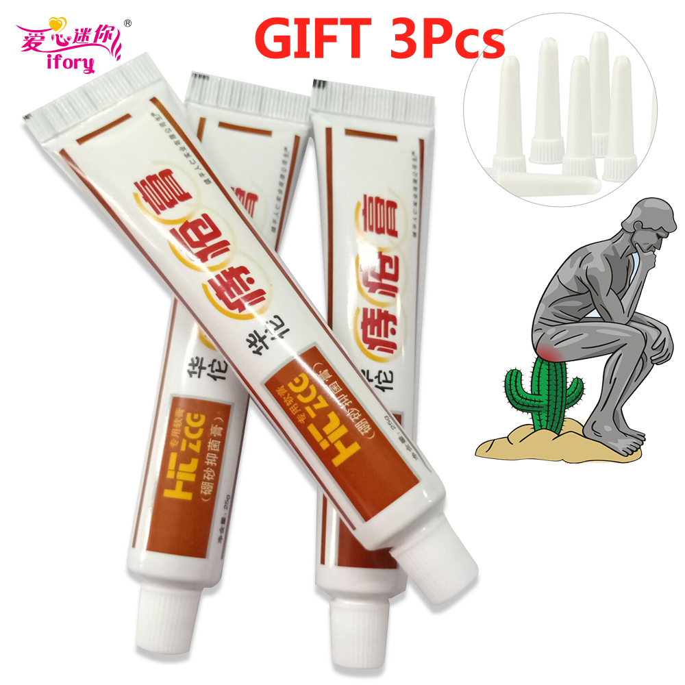 Ifory 3Pcs/lot Chinese Patch Health Care 100% Traditional Plant Herbal Powerful Hua Tuo Hemorrhoids Ointment Relieve Anal Pain 1