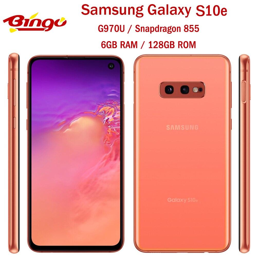 """Samsung galaxy smartphone s10e g970u, telefone celular, versão eua, octa core, snapdragon 855, lte, android, tela 5.8 """"16mp & 12mp 6 nfc ram 128gb rom"""