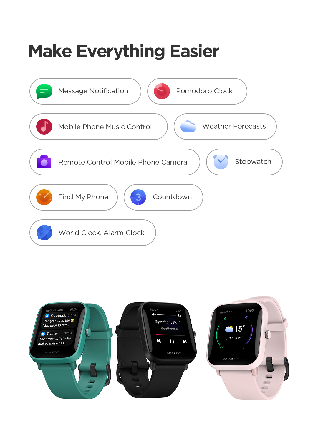 Amazfit Bip U 5ATM Smartwatch 6