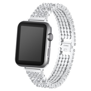 Image 3 - Crystal Diamond strap for Apple Watch band 38mm 42mm 40mm 44mm SE stainless steel Replacement Bands for iWatch series 6 5 4 3 2