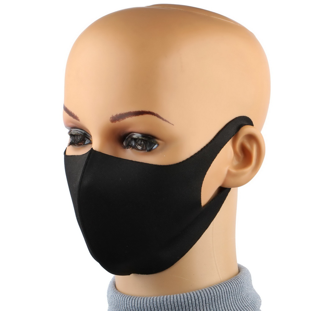 Allergy Dustproof Washable Mouth Mask Anti Haze PM2.5 Dust Mask Pollution Facial Respirator Reusable Black Nose Muffle Face Mask