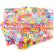 200 шт, 5 размеров, разные формы, случайные цвета, Детские пуговицы с отверстием, сделай сам, детская одежда, швейные принадлежности, материалы для скрапбукинга