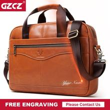 GZCZ Top Sell Fashion Men Briefcase High Quality Business Famous Brand