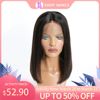 """Re4U 150% bob wig lace front human hair wigs Straight 13x6 13x4 Remy Brazilian Hair 32 colors Pre-Plucked Bleached Knots 8""""-14"""""""