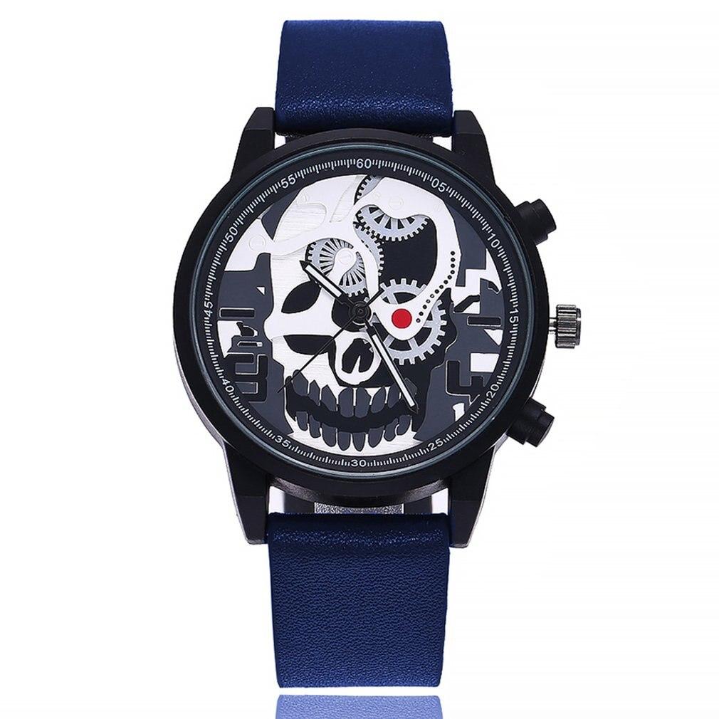 New Men Women Quartz Watch Wristwatch Stainless Steel/Leather Belt Simple Pattern Round Dial Wrist Quartz Watch Clearance