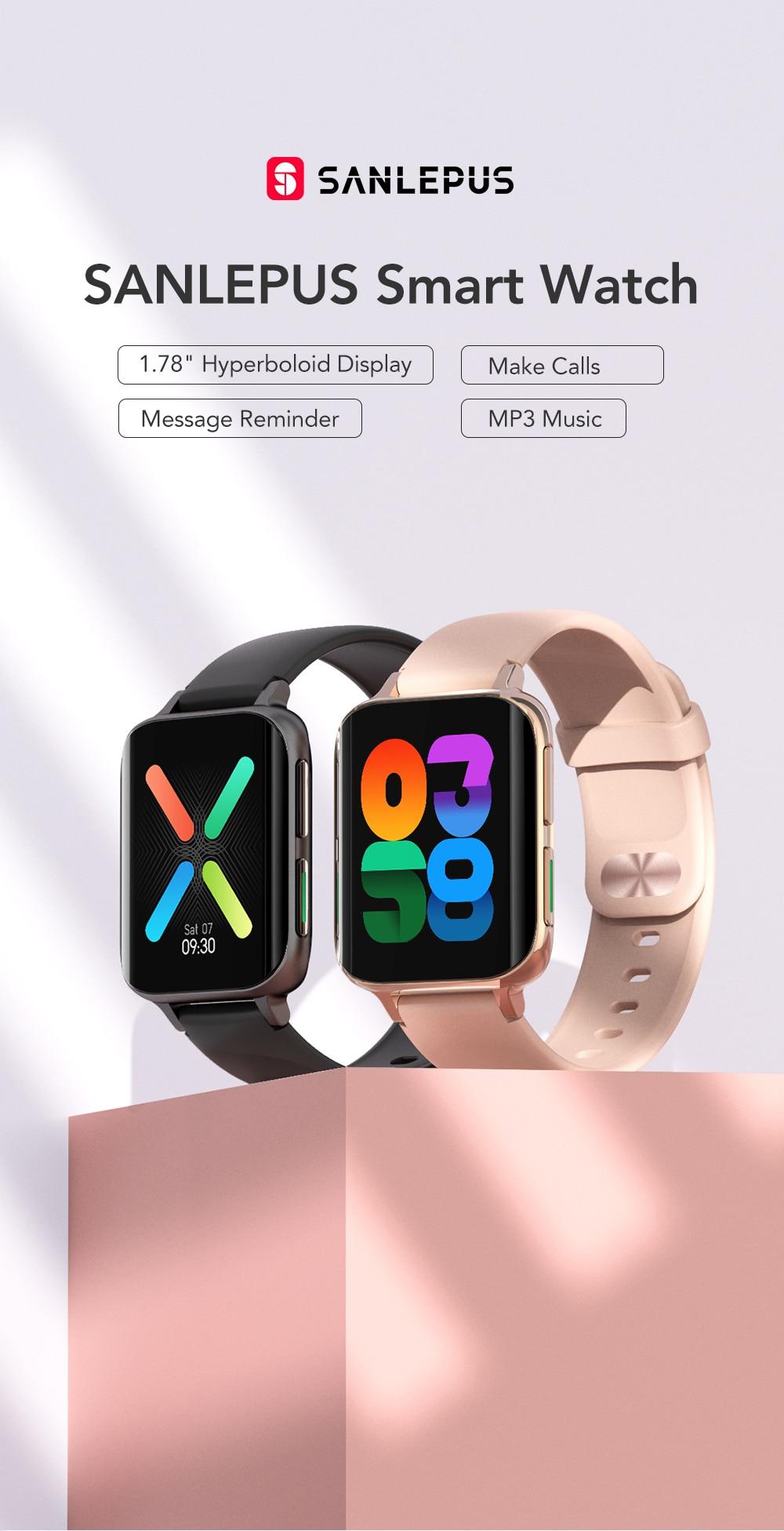 H30ee93e999964f5da7524b399cdea092Z SANLEPUS 2021 New Smart Watch Men Women Dial Call Watch Waterproof Smartwatch MP3 Player For OPPO Android Apple Xiaomi