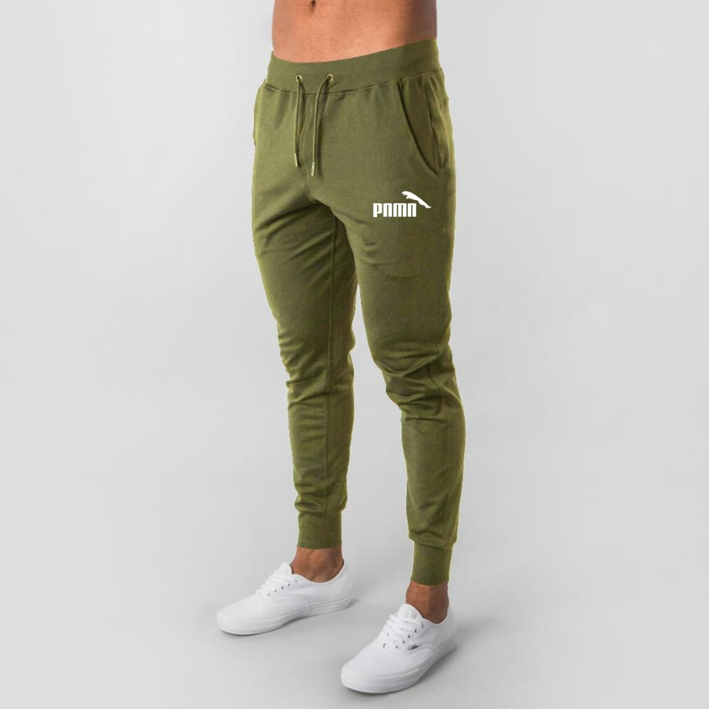Cotton Running Trousers Soft Fitness Running PantsWorkout Gym Sport Pencil Slim Tennis Soccer Trousers Pocket Training Pants