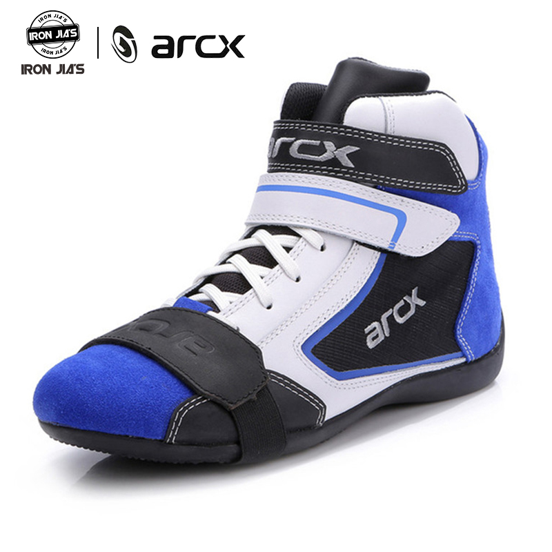 ARCX Motorrad Stiefel Wasserdicht Leder Atmungsaktive Motorrad Reiten Touring Schuhe Schutz Botas Moto Straße Schuhe