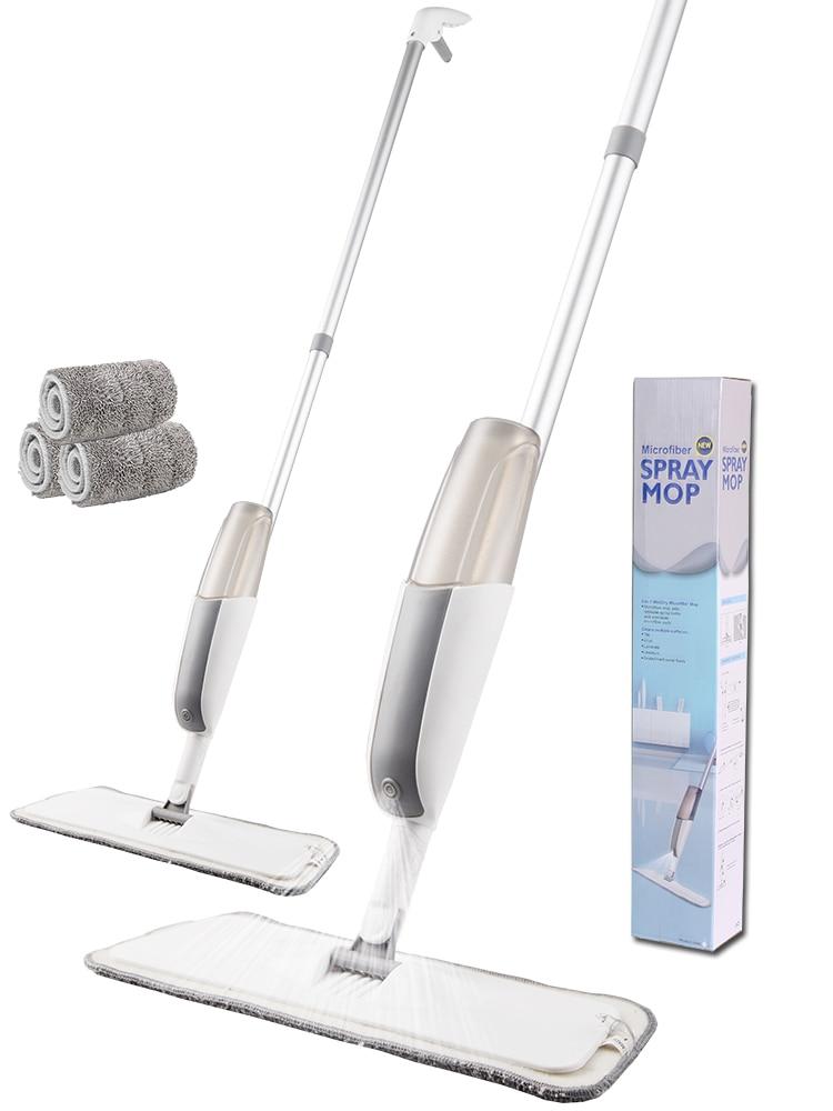 Spray Mop Broom Microfiber-Cloth Clean-Tools Floor Kitchen Magic 360-Degree-Handle Home-Windows