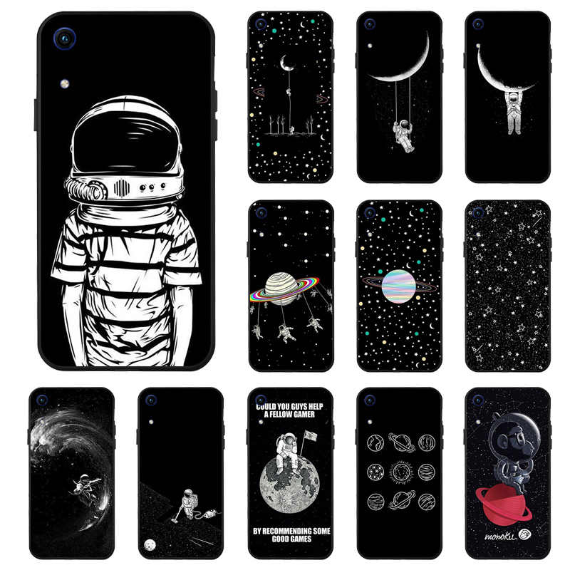 Case For Huawei Honor 8X 8A 9 10 Lite Cases Space Moon Astronaut Phone Cover On For Huawei Honor 7C 7A Pro Bumper Funda Capa