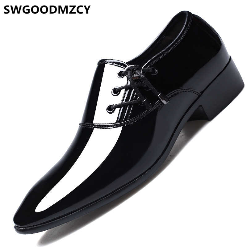 Bruiloft schoenen mannen formele Coiffeur trouwjurk designer schoenen mannen klassieke bruin jurk italiaanse merk mannen party schoenen big size 48