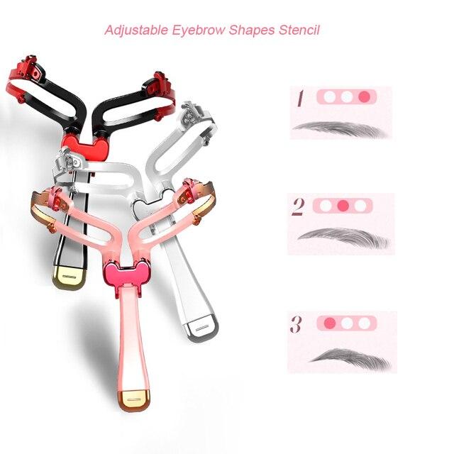 2019 New Adjustable Eyebrow Stencil 3 IN 1 Eye Makeup Shape Eyebrow Shaper Template Eyebrows Card Beauty Tool Makeup Model TSLM1 3