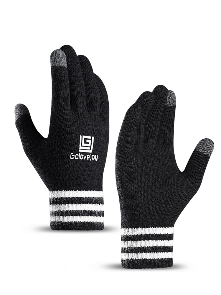 New Knit Touch Screen Gloves Men Women Autumn Winter Velvet Glove Thickening Wool Outdoor Riding Warm Couple Mittens Gloves
