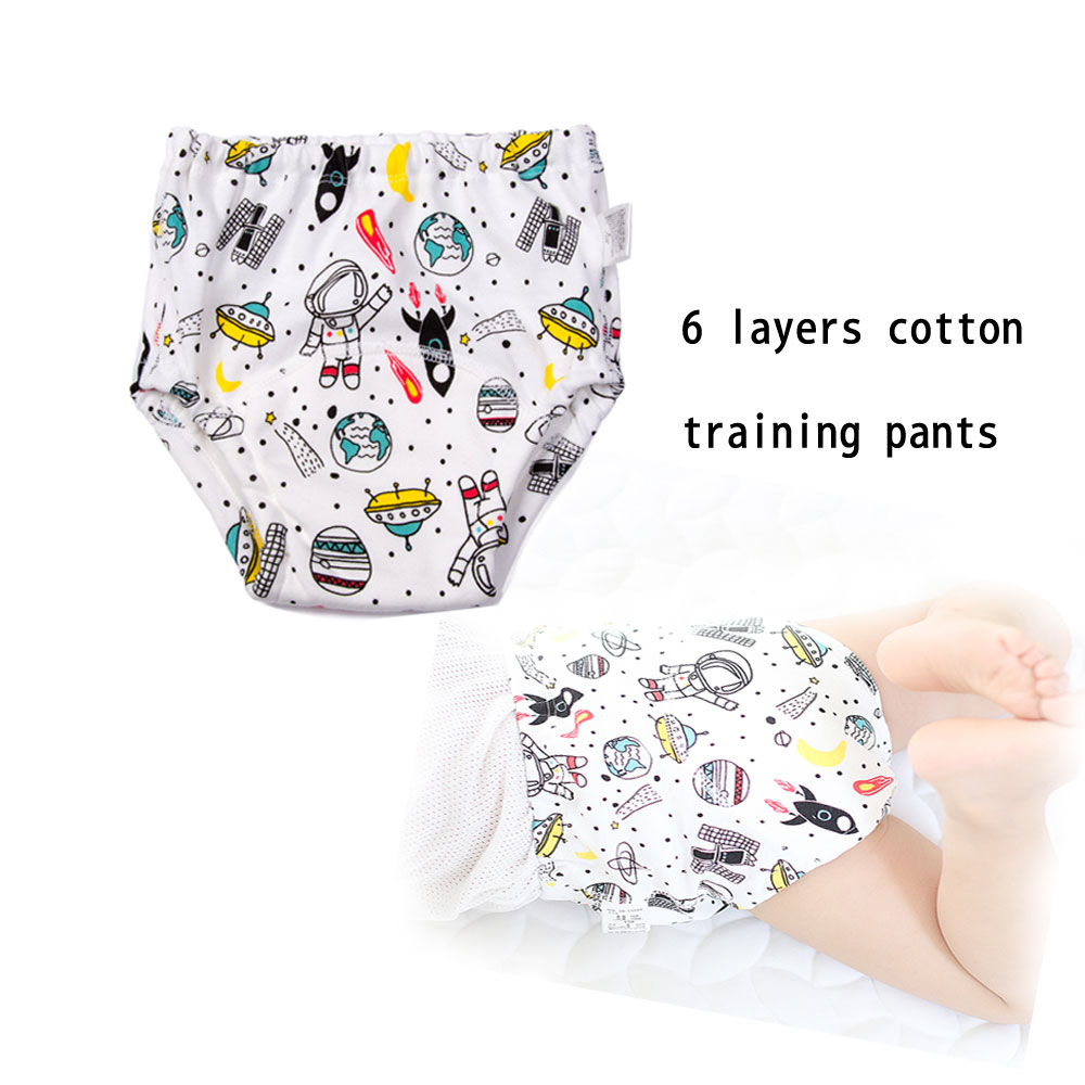 1 Pc Reusable Baby Training Pants 6 Layers Infant Shorts Underwear Cloth Diaper Nappies Baby Waterproof Potty Training Panties